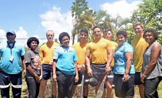 US Navy Team Visit Samabula Senior Citizen's Home