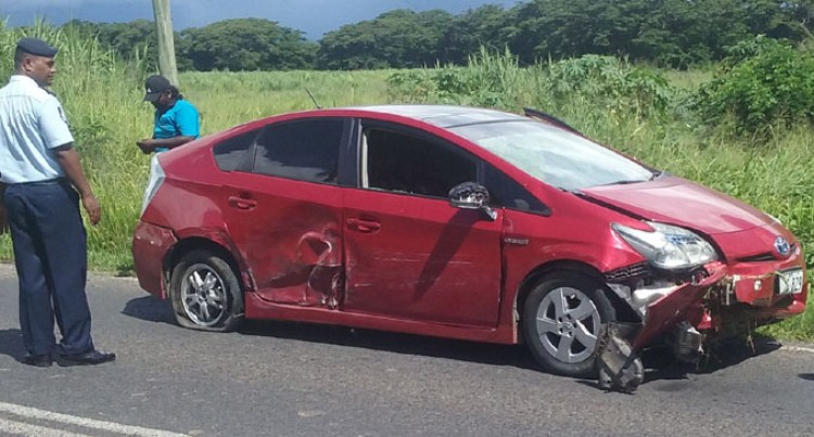 Four-Car Smash At Nadi Back Road