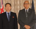 President receives credentials from North Korean envoy