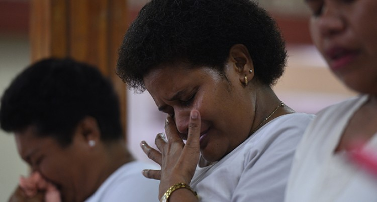 Tears flow as Koro islanders remember  villagers killed during Cyclone Winston
