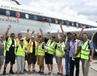 NASA Plane Lands at Nadi Airport