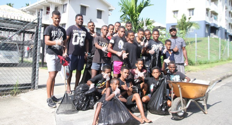 Kia Sparrow Youth Club cleans up in Raiwai