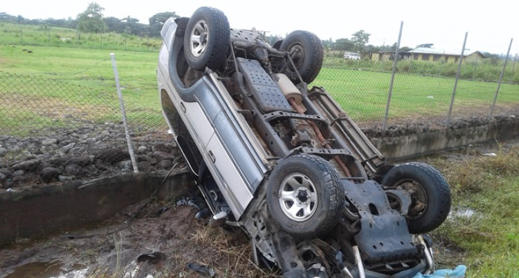 Driver Hospitalised After Accident