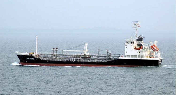 Oil Tanker Loads Fuel, Anchors Off Beqa