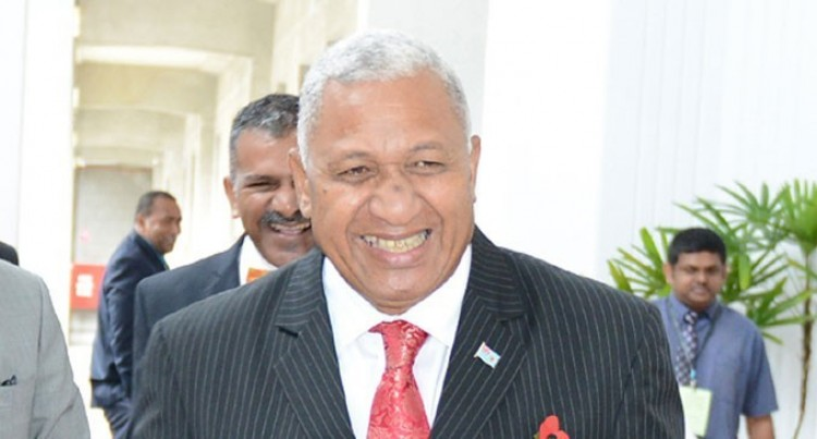 Bainimarama   At Donor's Meet  For COP23 Build-up
