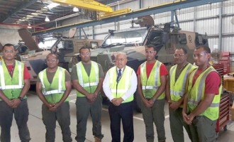 Ratu Inoke Explores Defence Co-operation Through Acquisition of Bushmasters in Aust