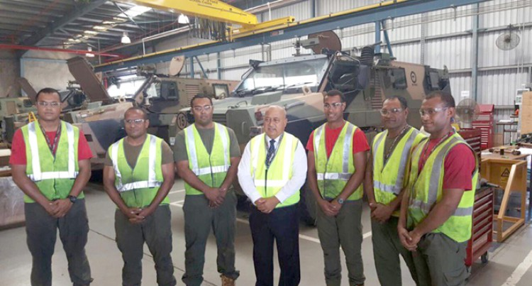 Ratu Inoke Explores Defence Co-operation Through Acquisition of Bushmasters in Aust