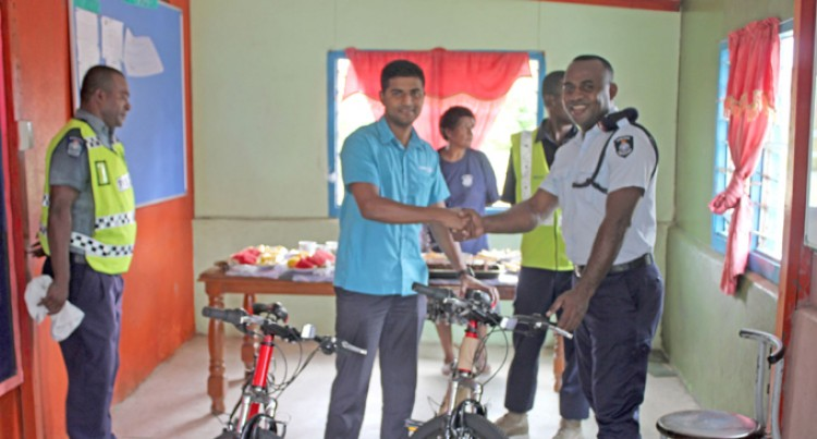 Vinod  Patel  Donates Bicycles