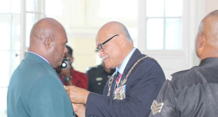 Valebuli Receives Second Medal of Honour