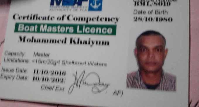 BELIEVED DEAD... Mohammed Khaiyum.