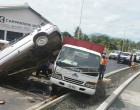 Driver In Hospital After Rare Crash