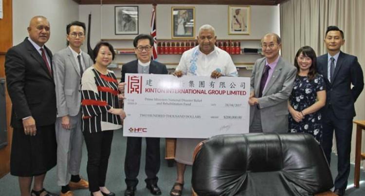 Hong Kong Chamber Gives $200K For Winston Help