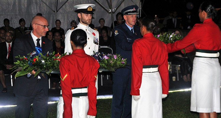 Hundreds Mark ANZAC Day in Suva