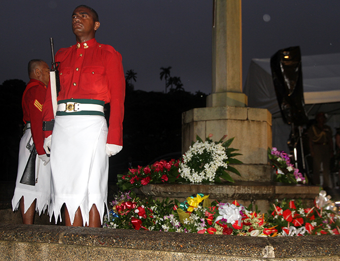 ANZAC day dawn service at the suva military cemetary on April 25, 2017.Photo:Vilimoni Vaganalau.
