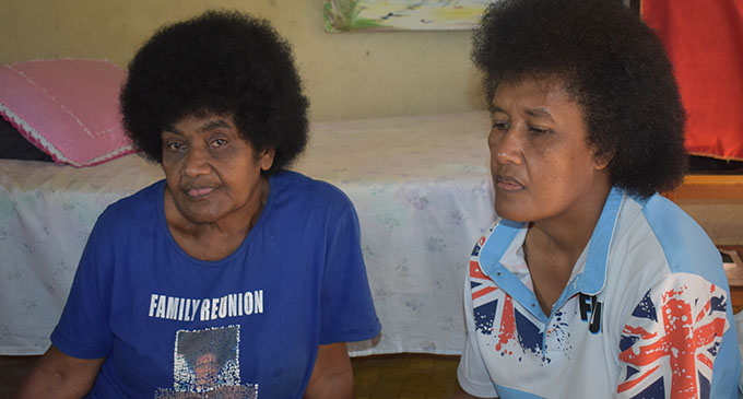 Siteri Naikarua, (left), mother of the deceased and the deceased's sister Mere Mara at their home in Kara Punja Street in Lautoka on April 9th, 2017. Photo: Charles Chambers