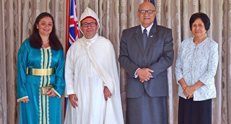 President Konrote Receives  Credentials From Non-Resident  Moroccan  Ambassador