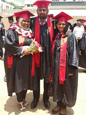 From left: Naksheema Ali, Manveer Singh and Mayuri Ben. Photo: Wati Talebula