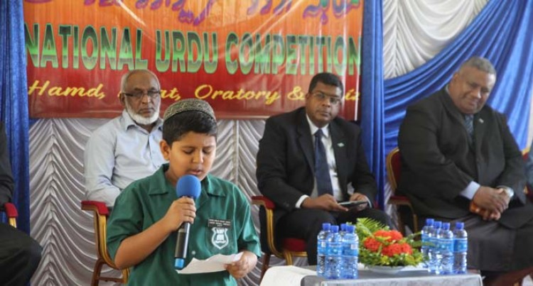 Urdu Language Encouraged At Competition