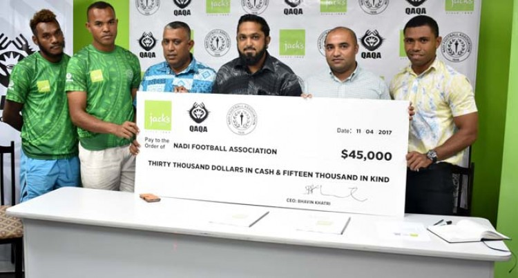 Jack's Of Fiji Renews Contract With Nadi Soccer
