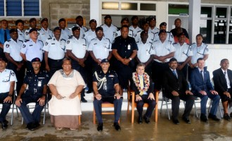 Red Cross, Police Talk Professional Law Enforcing