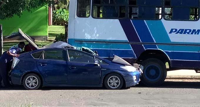 Driver Survives Horror Car Crash In Labasa