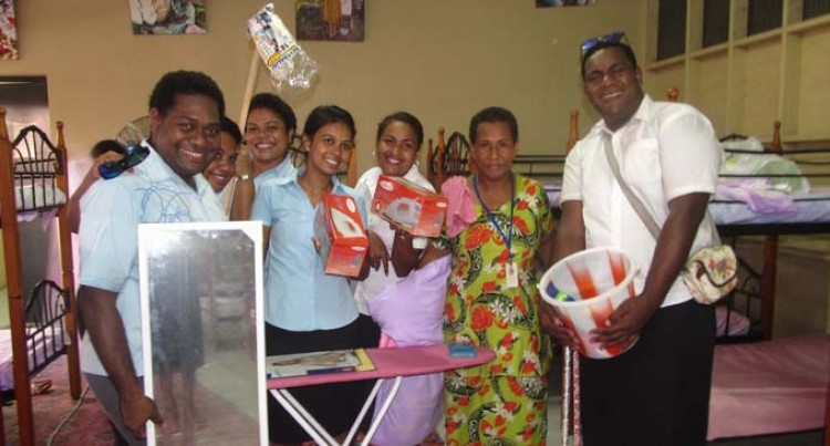Resort Workers Donate Gear To Hostel