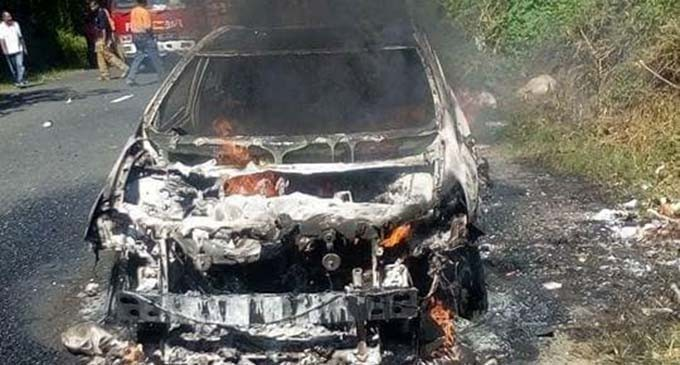 National Fire Authority Probe Car fire near Sigatoka