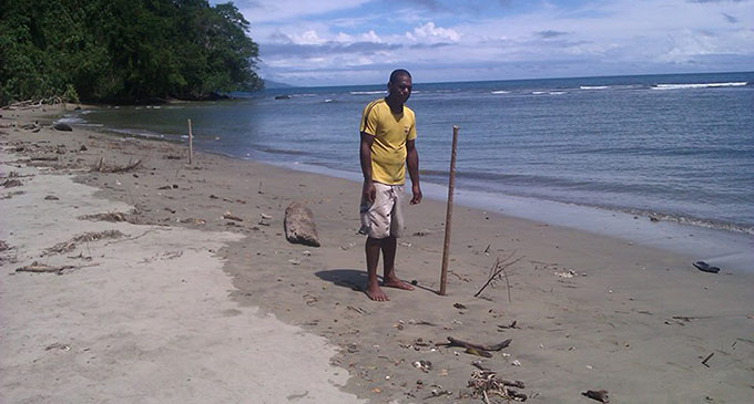 Beach in Deuba where the body of Mere Ailevu was found.