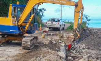 Levuka Seawall And Road Repair Continues