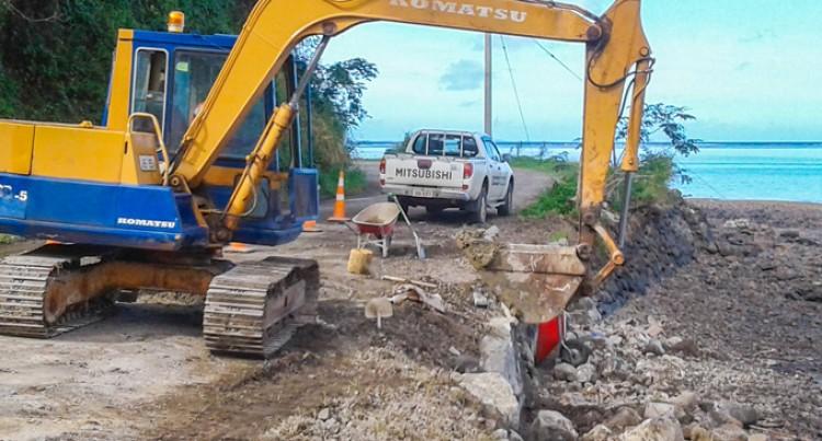Levuka Seawall And Road Repair Continues
