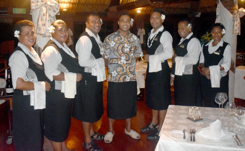 Multi Award Winning Fine Dine 'IVI' Restaurant staff. Photo: WAISEA NASOKIA