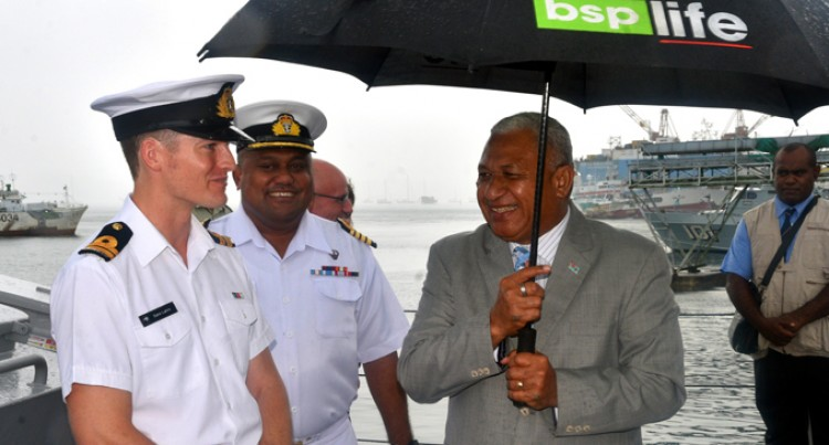 PM Gets Praises Support From NZ As He Visits HMNZS Hawea