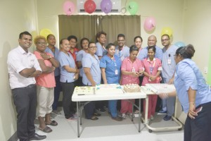 Pizza is served...a staff organises her team during the international nurses day at MOIT Private Hospital. Photo:Jone Luvenitoga