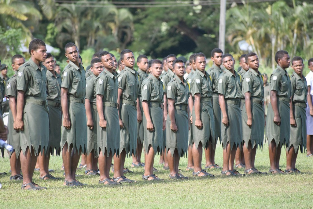 All Saints students during their cadet pass out parade on 26.05.17. Photo: Josaia Ralago