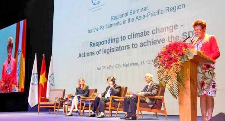 Eden Outlines Govt's Progress In Climate Action At Big Parl't Meet