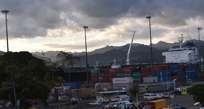 Oil Tanker And Bulk Vessel At Suva Port