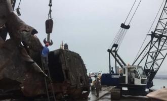 Derelict MV Sea Love Removed