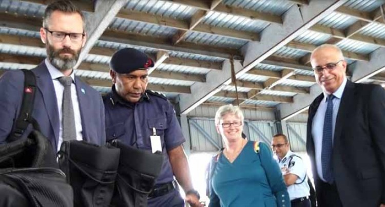 UN Delegation Visits Police Facilities
