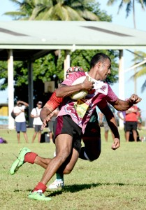 Saiasi Waqakuta steps away from an Army defender.Photo:Jone Luvenitoga