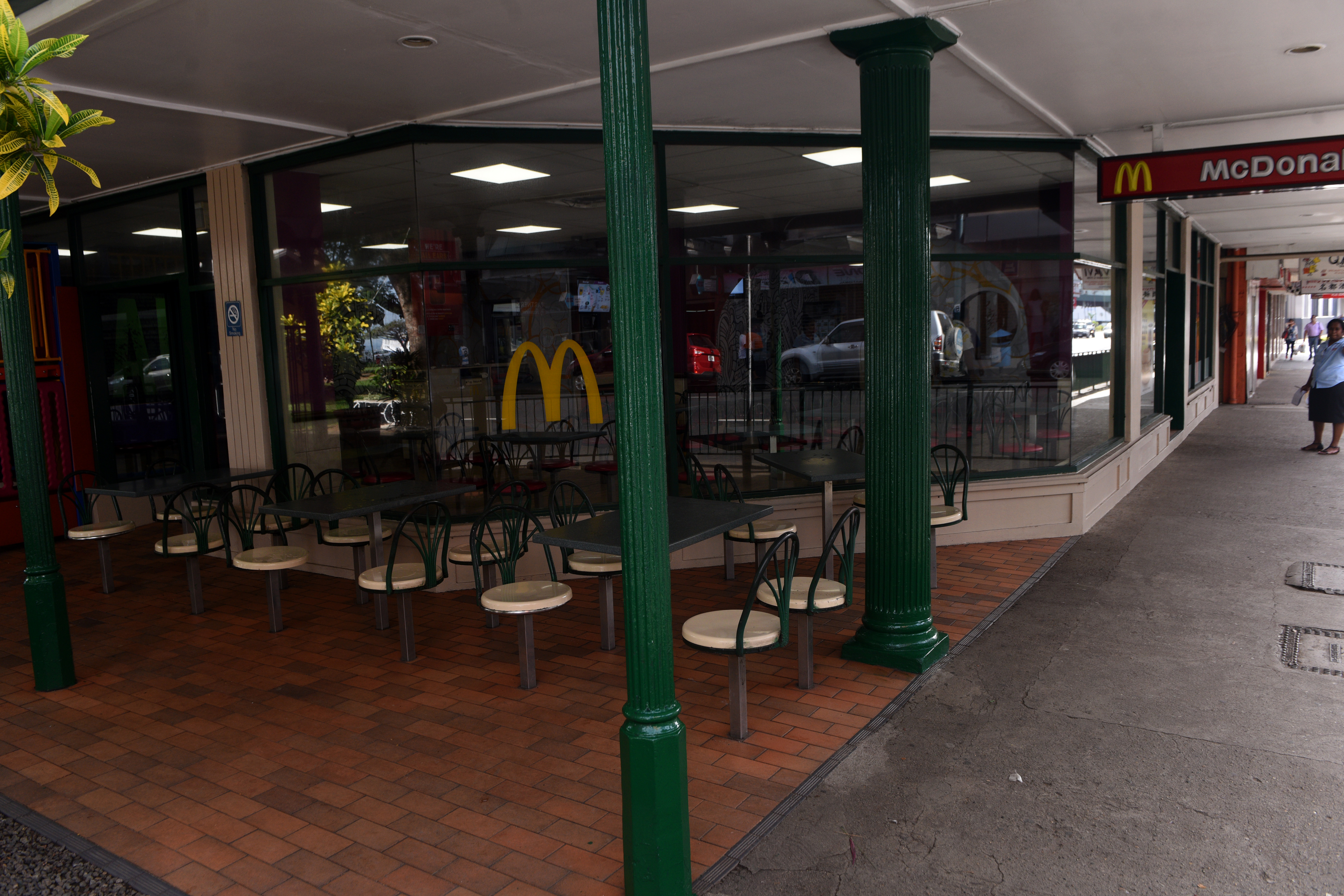 Asbestos threat led to the closure of MacDonals on June 2nd, 2017. Photo:Jone Luvenitoga
