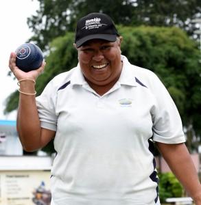 Sandra Pickering Taylor during the South Pacific bowling Carnival at the Fiji Bowling Club. Photo: Vilimoni Vaganalau