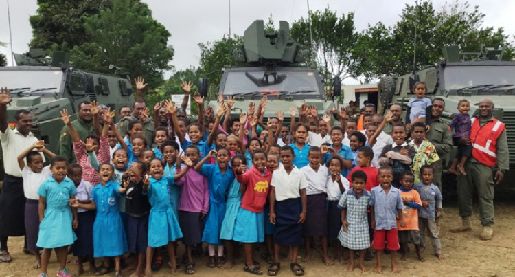 RFMF Oblige To Villagers' Request To See Bushmaster Vehicles