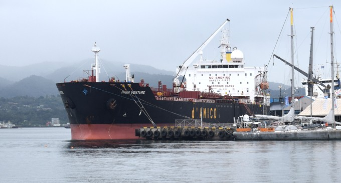 HIGH VENTURE DISCHARGED OIL AT SUVA PORT