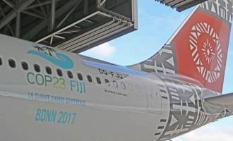 COP23 Logo On Fiji Airways Fleet