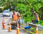 Princess Road Guardrails Under Repair