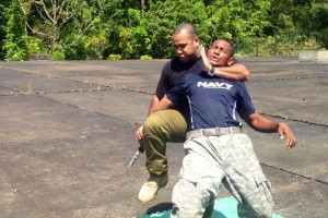 Krav Maga instructor Russell Rasiga shows how it is done.