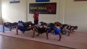 Krav Maga students train in Suva.
