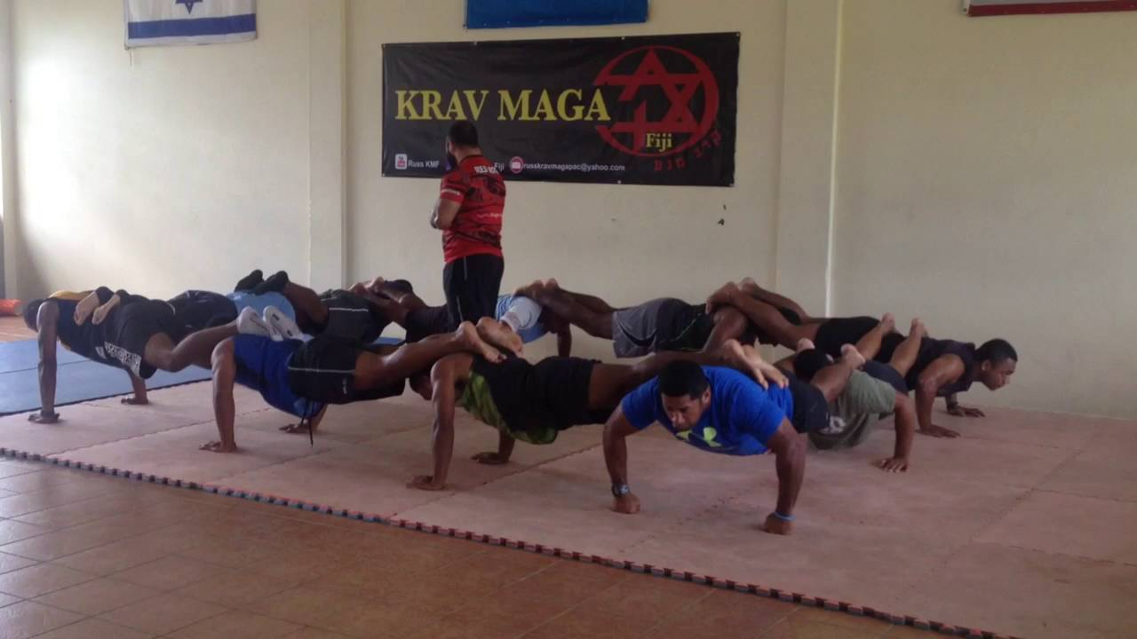 Krav Maga students train in Suva.