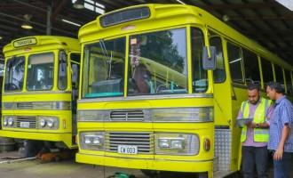 Buses Undergo Quality Assurance System