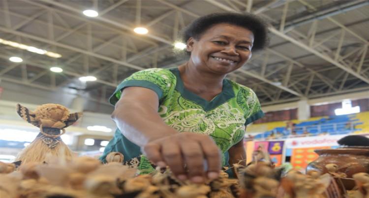 Koro Men Help Their Women Weave Mats